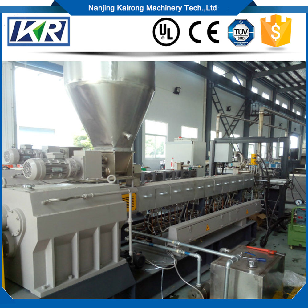 Plastic Pellets Wire And Cable Compound Granulating Twin Screw Extruder/PVC Pellets Making Machine Sale Price