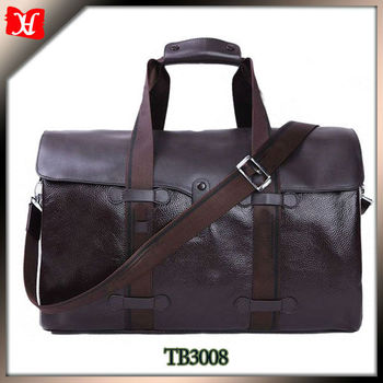 2016 new design travel bags genuine leather men golf travel bag