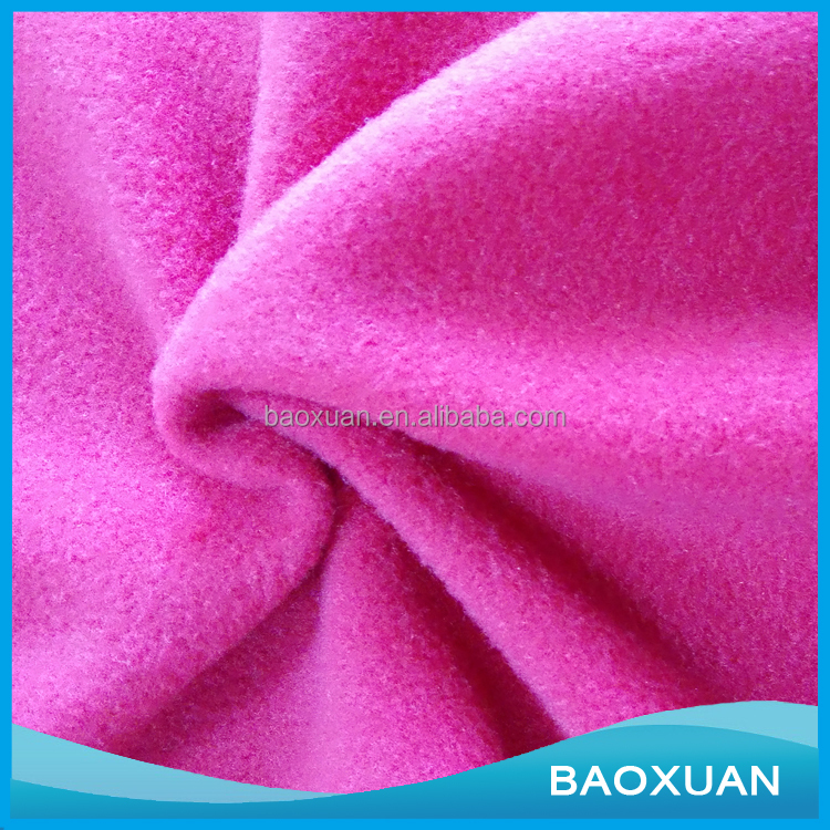 Chinese Supplier Wholesale 2017 New Design High Quality Soft 150D 288F Micro Polar Fleece Fabric Material Textile For Clothes