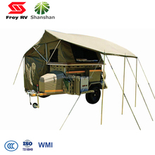 Customized Design Aluminum Portable Tent ATV Camping Trailer With Tool Box