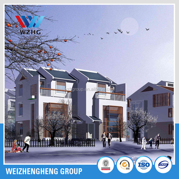 light steel structure building apartment villa building