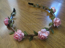 Fashion indian girl flower garland floral party headband QFHD-2686