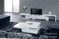 Modern western design glossy rotated square function coffee table