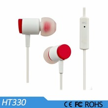Disposable studio headphone, cheapest colorful earphone with microphone