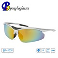 mirror lens silver frame bike sunglasses with UV400