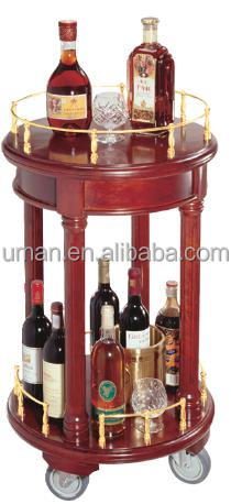Round VIP bar cart/wine cart with wheels