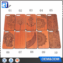 2017 Original Laser engraved custom wooden case cover for iphone 7 wood cell phone case made in china