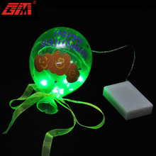 Wholesale battery operated high quality hand blown glass hanging halloween led lighted balloon for decoration
