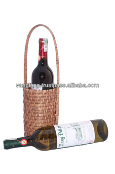 Single rattan wine holder/ wicker wine holder