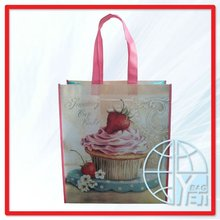 Strawberry Bake Printed Plastic Handle Shopping Gift Bag