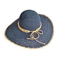 Latest design folding sombrero paper straw crochet lady hat