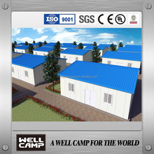 Quickly installation modular prefab houses for goverment refugee house project