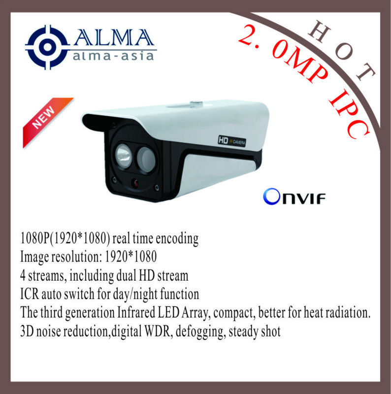 2 Megapixel IP box camera support ONVIF and POE