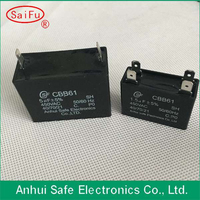 high quality sh CBB61 fan speed regulation capacitor with 2 wire