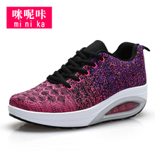 Fashion knitting mesh upper summer sport shoes and sneakers for women
