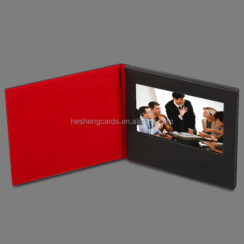 Digital video business card 7inch digital photo frame in brochure europe wedding invitaiton card