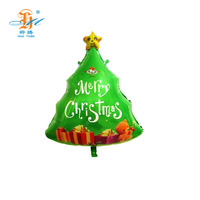 Top quality aluminum christmas party tree decoration balloon with lovely shape