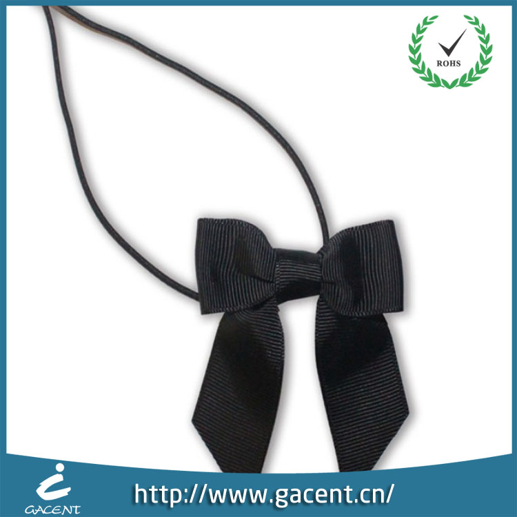 Garment accessories double face color polyester satin ribbon bow