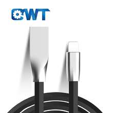 QWT New Design Superior Quality TPE Zinc Alloy Usb Fast Charging and Data Sync Cable for Android