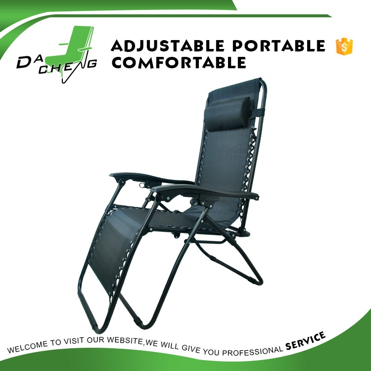 popular metal tube outdoor home garden furniture foldable beach chair/beach lounge chair