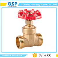Factory direct sale brass non rising stem bypass gate valve
