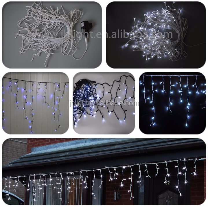 50 LED Warm White Connectable String Lights 5m Black Cable