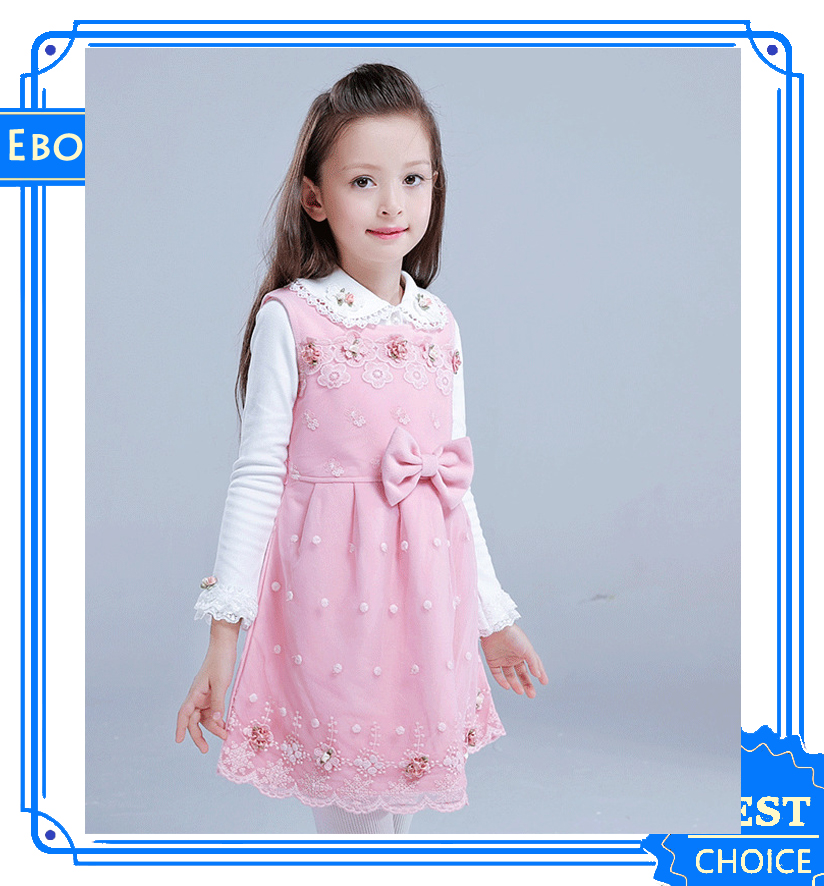 New winter cotton quality Baby Frock Design Pictures Princess Dress Up Kids Dress