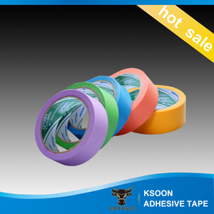 Brown Color Car Painting High Grade Masking Tape resist 80 to 120c Degree