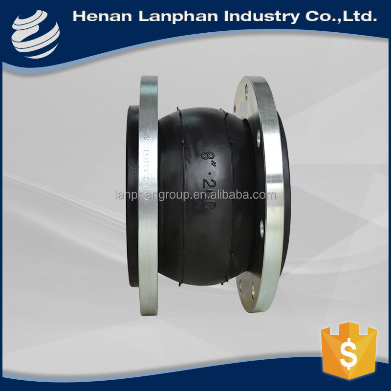 single sphere galvanized rubber expansion joint for mining
