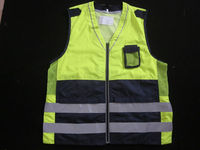 100% polyester EN471 high quality safety clothing with pocket