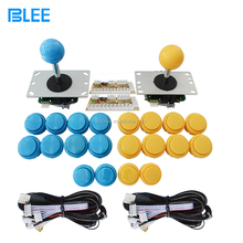 Low price arcade game parts factory direct wholesale zero delay push buttons & joysticks DIY arcade cabinet set