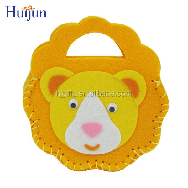 Best quality handmade Diy craft gift felt bag with cute animal