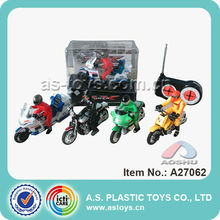 1:18 scale 5CH kids plastic rc battery for motorcycles toy