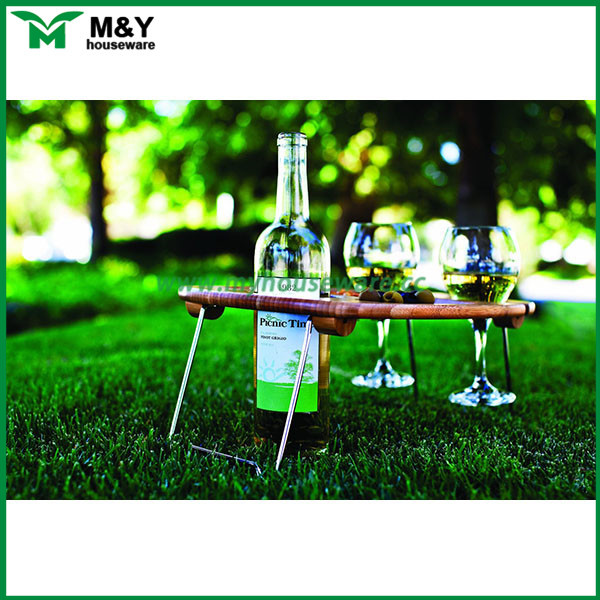 bamboo wooden folding camping table