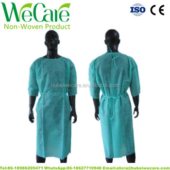Medical Biodegradable Disposable Isolation Gown Laboratory Sterile Surgical Gown