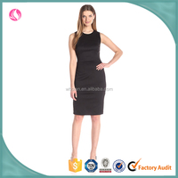 Plain black sheath dress for women, women dresses pictures of latest growns design