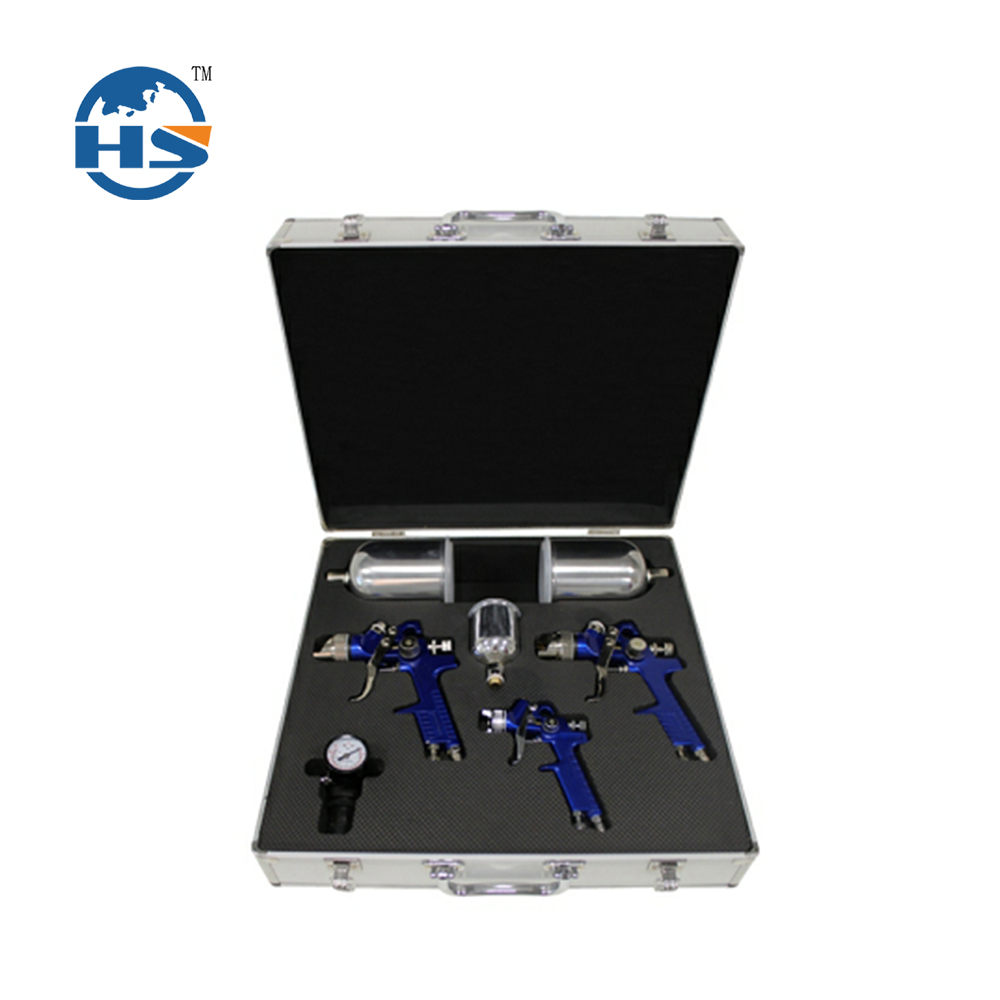 Sandblasting portable toolbox with all necessary spray gun components