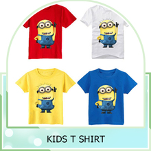 cotton kids t-shirt despicable me 2 minions Children boys clothes girl t shirts for girls clothing boys t-shirt Tops cotton Tees