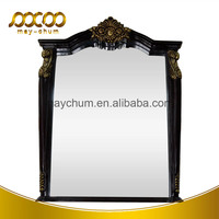 Big Size Polyurethane Foam Wood Modern Bathroom Hotel Framed Mirror
