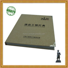 Hard cover book printing with leather cover about hotel light decorations and die-cutting