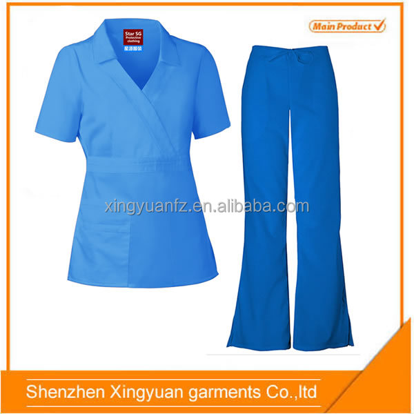 Star SG European Fashion Nurse uniform/ medical scrubs wholesale /hospital uniform
