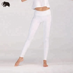 Light clean material white womens yoga pants leggings