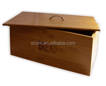 Eco-friendly Pure Bamboo Over Sized Retro Style Bread Bin