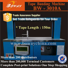Automatic seal and cut 150m OPP & Paper Tape envelope strapping machine