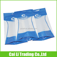 clear window ziplock food grade gusseted poly bags