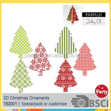Christmas Tree Decoration 3D Paper Hanging Ornament