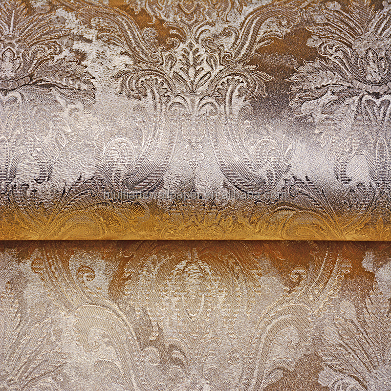 Glitter Wallpaper Metallic gold foils wallpaper factory