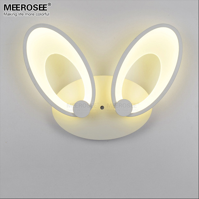 MEEROSEE Zhongshan Creative Lovely Rabbit Ear Design Bedside Light Hot Sale LED Fixture Modern Wall Lamp MD81940