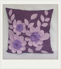 applique cushion cover made in china