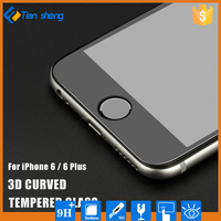 0.3mm Curved Surface Full Screen Cover Coverage Explosion-proof Tempered Glass Film For iPhone 7 Plus